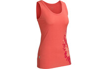 Icebreaker Tech Tank Wild Bunch top Femme BF150 rouge
